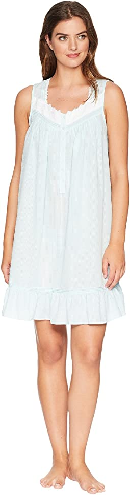 Sheer Stripe Clip Dot Short Chemise