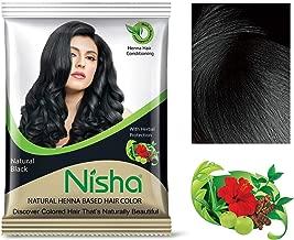 Natural Color Hair Henna Powder (Natural Black) 10G Pack of 10 by Nisha