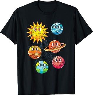 Système Solaire Astronomie Planètes Mignons Science Spatial T-Shirt