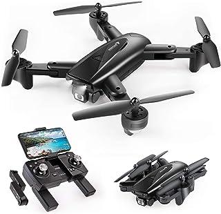 SNAPTAINドローン GPS搭載 2K 110°広角HDカメラ付き バッテリー2個付き 26分飛行時間 200g未満 折り畳み式 フォローミーモード リターンモード FPVリアルタイム伝送 2.4GHz ヘッドレスモード モード1/2転換可...
