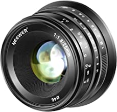 Neewer 25mm F1.8 APS-C Large Aperture Wide Angle Lens Manual Focus Lens for Sony E Mount Mirrorless Cameras A7III A9 NEX 3 3N 5 NEX 5T NEX 5R NEX 6 7 A6400 A5000 A5100 A6000 A6100 A6300 A6500