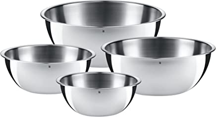 WMF Schüssel-Set Gourmet, für die Küche 4-teilig, edelstahl, Cromargan, multifunktional als Rührschüssel, Salatschüssel, Servierschüssel, stapelbar preisvergleich bei geschirr-verleih.eu