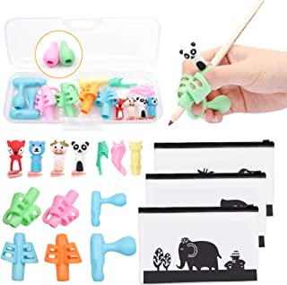 19PCS Pencil Grips, Finger Writting Help for Kids, Children Pen Writing Aid Grip Set Professional 6-Stage Posture Correcti...