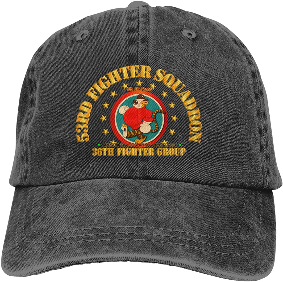 SLISL EIEI 53rd Fighter Squadron 36th Fighter Group 9th Air Force Adjustable Baseball Caps