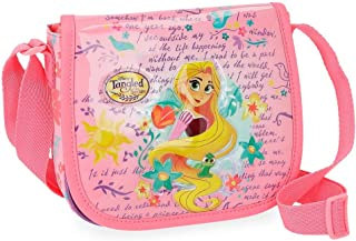 Princesas Rapunzel Bandolera con solapa Multicolor 17x15x4 cms Poliéster