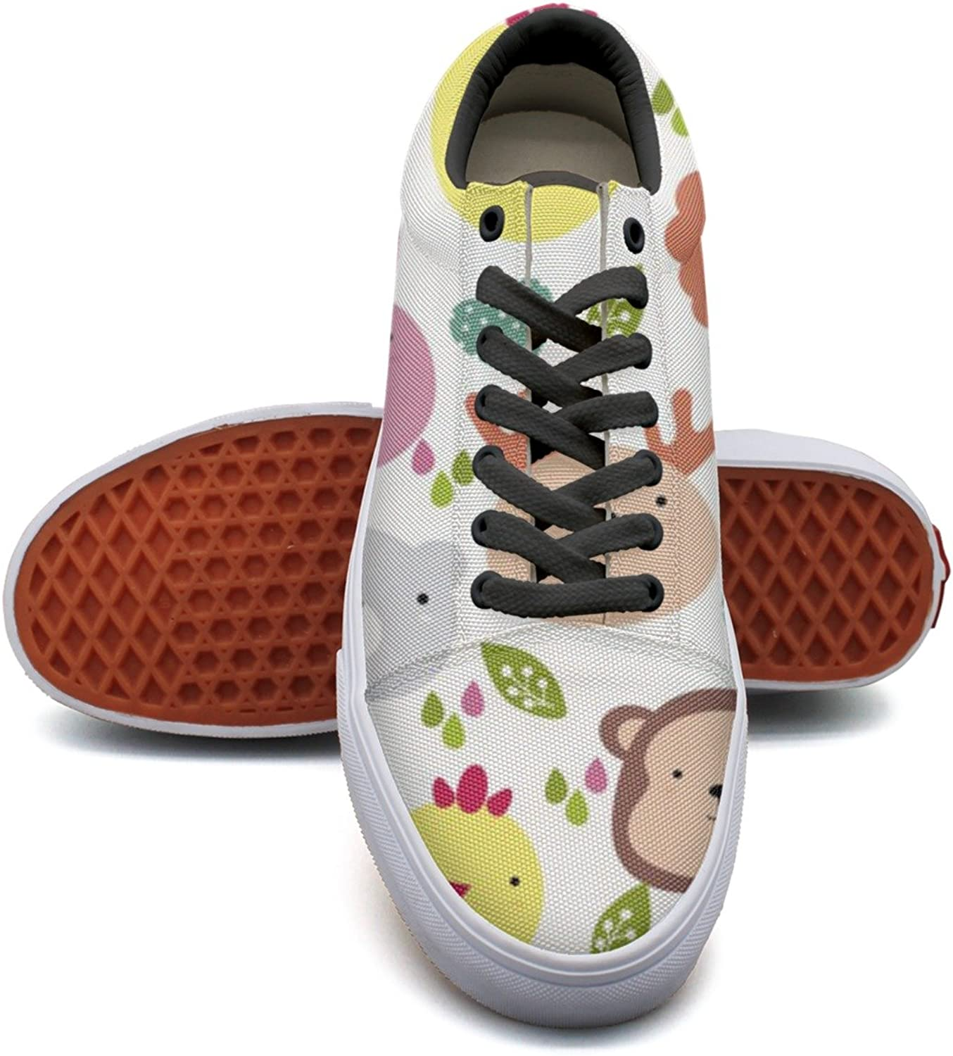 Cute Animals Head Background Women's Casual Sneakers shoes SlipOn Sports New Comfortable