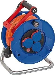 Brennenstuhl 1218370 Garant IP44 Kabelhaspel ( 25 m kabel in oranje, speciaal kunststof, voor gebruik buiten, Gemaakt in D...