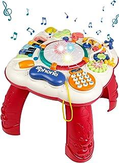 Symiu Table Activité Jouet Bebe de Eveil 6 en 1 Instrument et Musique Chaise Enfant Jeux Educatif Cadeau pour Enfant Bébé ...