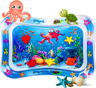 EasonWayUS Tummy Time Water Play Mat for 3-9 Months Toddlers, Baby Toys Inflatable Play Center for Tummy Time for 3/6/9 Mo...