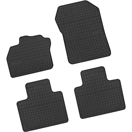 Bär Afc Re09628n Gummimatten Auto Fußmatten Schwarz Erhöhter Rand Set 4 Teilig Passgenau Für Modell Siehe Details Auto