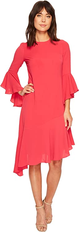 Maggy London - Catalina Crepe Ruffle Dress