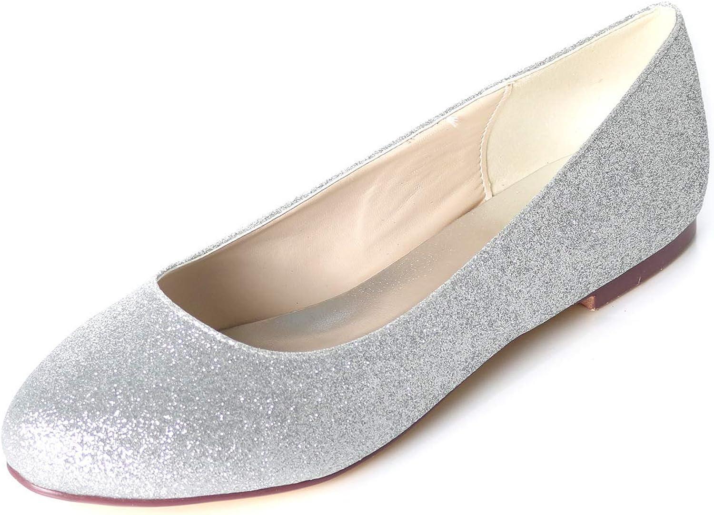 LLBubble Flat Sequin Round Toe Women shoes Ballerina Ballet Women Pumps 9872-01GLT
