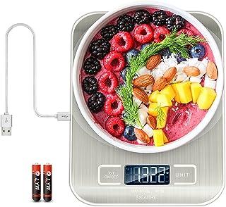 ميزان طعام رقمي من Kiaitre - ميزان مطبخ مع USB قابل لإعادة الشحن ، مقياس رقمي للمطبخ بوظيفة Tare ، مقياس للطعام مع 1g - 0....