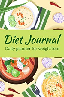 Weight Loss Diet Journal: Beautiful Notebook with Meal Planner, Food Tracker, Workout Log and Sleep Tracker to Help You Su...