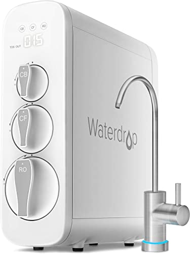 Waterdrop RO Reverse Osmosis Drinking Water Filtration System, NSF Certified, TDS Reduction, 400 GPD Fast Flow, Tankl...