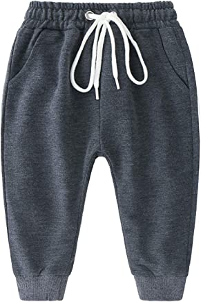 fd77f26a797 City Mouse Baby Unisex Sweatpants Casual Sport Jogger Pants Drawstring  Elastic Trousers (Dark Grey