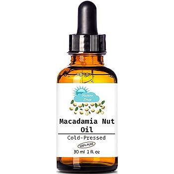 Nature Drop's 100% Pure Cold Pressed Organic Virgin / Macadamia Nut Oil