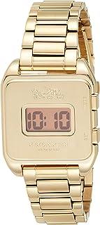 Coach Womens Quartz Wrist Watch, Gold Stainless Steel - 14503591