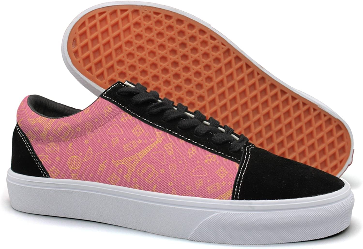 Hjkggd fgfds Casual How Tall is The Eiffel Tower Women's Canvas shoes