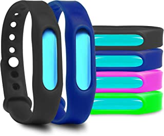 VANZO Mosquito Bracelets, Natural and Waterproof Wrist Bands for Adults, Kids, Pets (6 Pack)