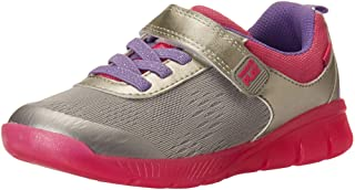 Stride Rite Girl's Made2Play Lighted Neo Sneaker, Silver, 12 W US Little Kid