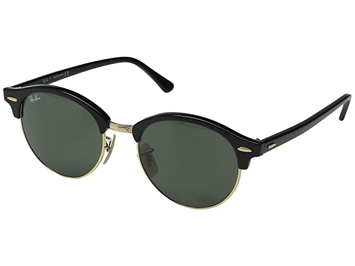 1950s Sunglasses & 50s Glasses | Retro Cat Eye Sunglasses Ray-Ban RB4246 51mm Black FrameGreen Lens Fashion Sunglasses $165.00 AT vintagedancer.com
