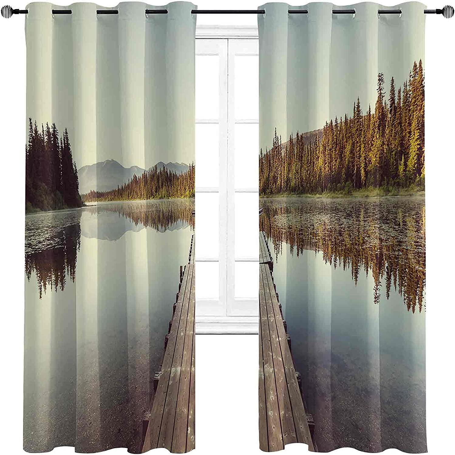 Bargain sale Fall The Living Room has Wooden Blackout Max 71% OFF Curtains Powerful Pier