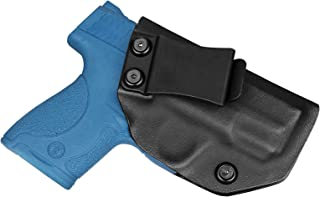 Bedone S&W M&P Shield 9mm .40 IWB Holster, Custom Molded, Polishing Edge,Fit Smith&Wesson M&P Shield M1.0 M2.0, Concealed Carry, Inside The Waistband Kydex Holster - Adjustable Cant - Right Handed