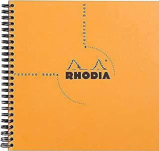 Rhodia Reverse Book & Dot Book - Graph 80 sheets - 8 1/4 x 8 1/4 - Orange Cover