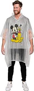 Mickey Mouse & Pluto Rain Poncho Hoodie Print Unisex (Adult)
