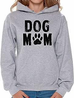 Women's Dog Mom Hoodie Hooded Sweatshirt Dog Lover Dog Paw Gift for Mom