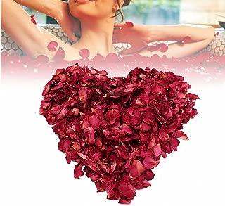 Vidillo Rose Petals Dried 200 Grams Real Flower Confetti Red Rose Petal Decoration Bath Foot Bath Wedding Confetti Crafts Accessories, 1 Bag
