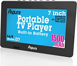 LEADSTAR 7 Inch Portable Small Digital ATSC TFT HD Screen Freeview LED TV for Car,Caravan,Camping,Outdoor or Kitchen.Built...