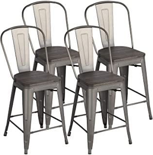 Yaheetech 24Inch Seat Height Tolix Style Dining Stools...