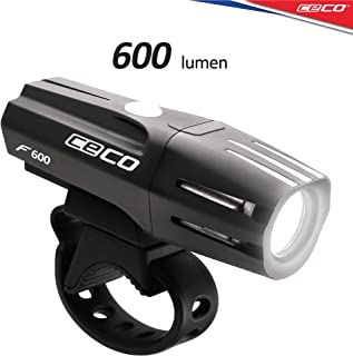 CECO-USA: 600 Lumen USB Rechargeable Bike Light – Tough & Durable IP67 Waterproof & FL-1 Impact Resistant – Super Bright Model F600 Bicycle Headlight – for Commuters, Road Cyclists, Mountain Bikers