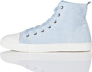 Marchio Amazon - find. Hi-Top Canvas Sneaker a Collo Alto, Pink (Washed Pink), 41 EU