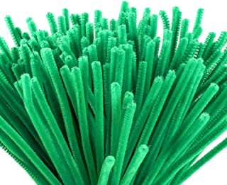 Caydo 200 Pieces Green Pipe Cleaners Craft, Art Creative Decorations Supplies(6 mm x 12 inch)