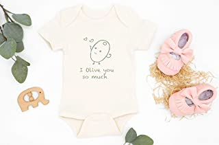 I Olive You So Much Bodysuit, Organic Baby Clothes, Newborn Outfit, Coming Home Outfit, Baby Girl Clothes, Baby Romper, Baby Shower Gift