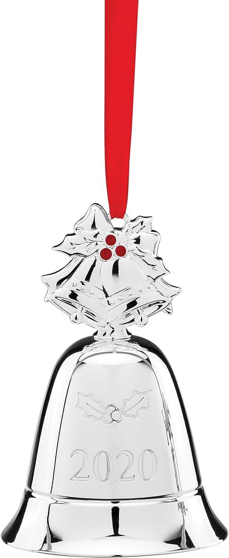 Lenox 2020 Annual Musical Bell Ornament, 0.50 LB, Metallic