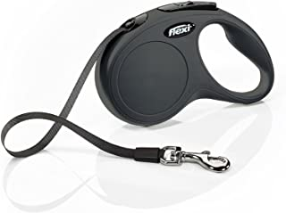 FLEXI New Classic Retractable Dog Leash (Tape), 16 ft, Small, Black