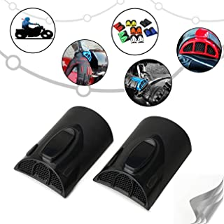 AUFER One Pair Universal Riding Jacket Cuff-clamp Cooling System Motorcycle Jacket Sleeve Clip Keep Air Flowing to Reduce Heat(Black)