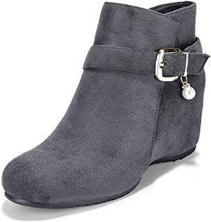 2a74dac8bde Amazon.com: Wedge - Grey / Ankle & Bootie / Boots: Clothing, Shoes ...