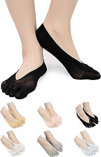 6 Paire De Coton Low Cut Athletic Chaussettes 5 orteils Chaussettes Mesh Wicking g8t9