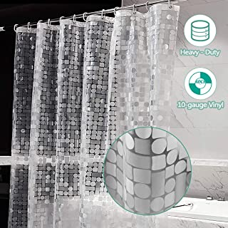 ARICHOMY Shower Curtain Liner Clear Strongest 10 Gauge Heavy Duty Liner Waterproof 72x72 Inches EVA (PVC Free)