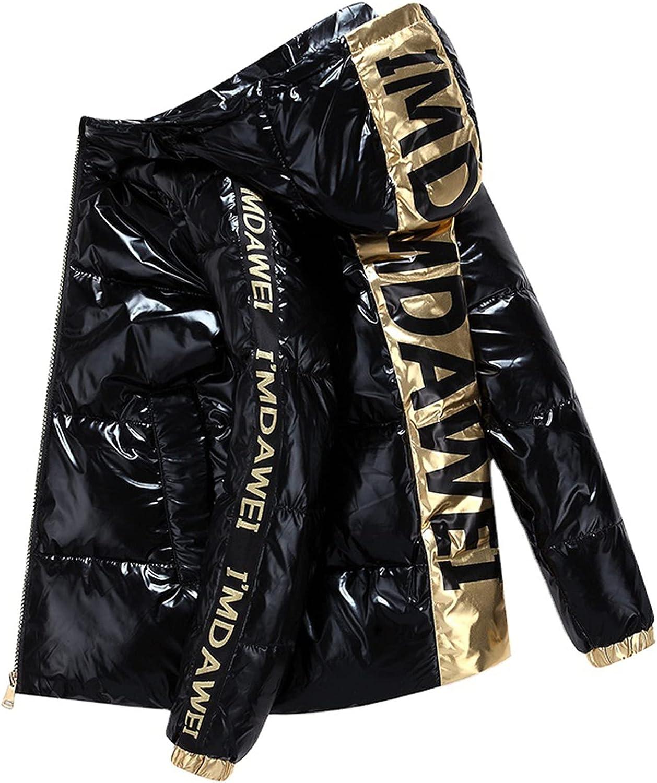 Men's Winter Down Jacket Parka, Hooded Thick Lightweight Coat Warm Outerwear Windproof Parka Puffer Jacket