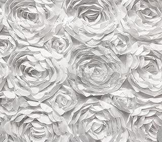 Satin Bridal Petal Rosette Floral Fabric 52