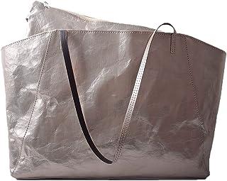 noTrash2003 stylischer XL-Shopper Liza Papier-Tasche Handtasche in metallic-Optik