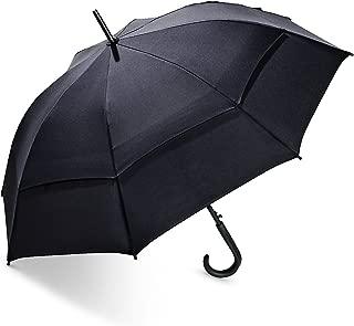 Coolibar UPF 50+ 48 Inch Calotta Fashion Umbrella - Sun Protective (One Size- Black)