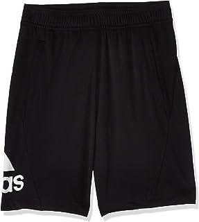 سروال قصير محبوك من اديداس أسود (أسود ) (Manufacturer Size:140)