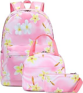 حقيبة ظهر مدرسية للبنات من كامبتوب، مجموعة حقائب الكتب مع صندوق الغداء وحقيبة أقلام رصاص للمراهقين والأطفال